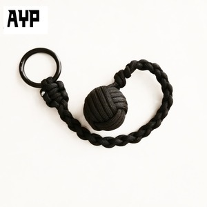 High Quality Self Defense Keychain Paracord Monkey Fist Knot
