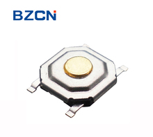 TS-C005 brass button 5*5 SMD/SMT momentary tact switch 4 pin mounted M terminal metal push button switch