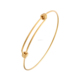 Wholesale Gold/Rose Gold/Silver Expandable Brass Wire Bangle