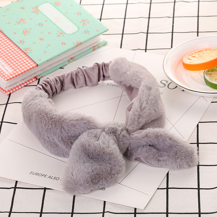 elasticity crepe bow rabbit ears hair wrap for girls lady stretch ear Headwrap for wholesale hair accessories factory