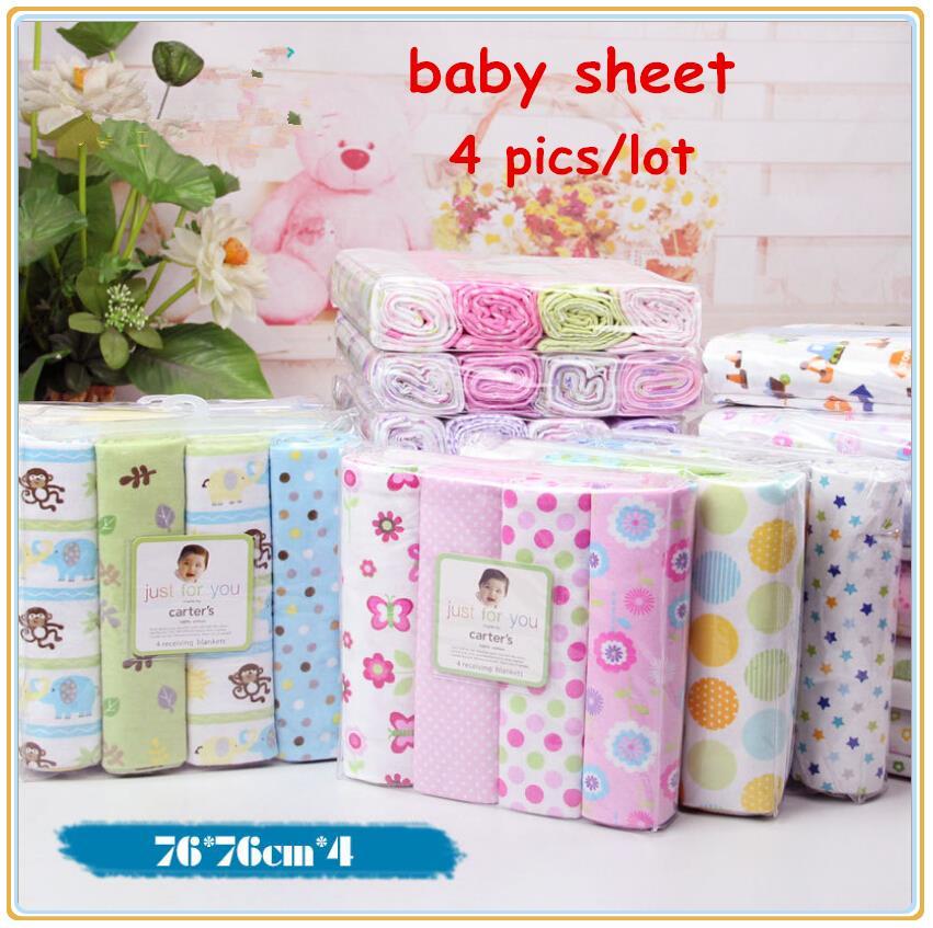4pcs Lot Newborn Baby Bed Sheet Bedding 76x76cm Set For