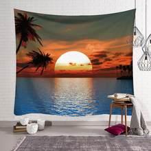 Красивый настенный гобелен с видом на море, домашний декор, полотенце пляжное пикник, плед, коврик, мандала, пейзаж на море, Tapisserie(Китай)