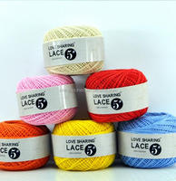 Hand knitting lace yarn 100% cotton mercerized high quality crochet cotton yarn