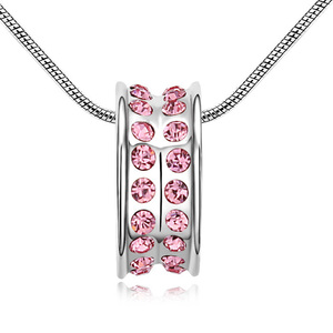 13166 handmade rhinestone whistle pendant necklace
