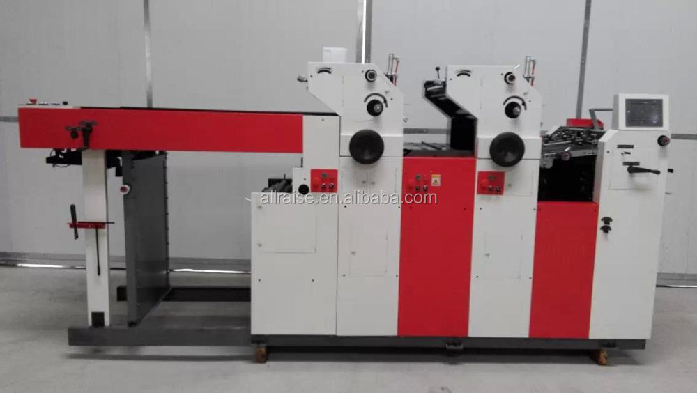 Three Colors Flatbed Printer And Offset Press Machine Made in China With Coding Numbers