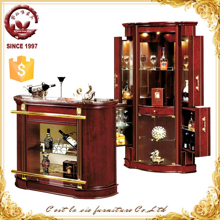 Comercio al por mayor de estilo espa ol de madera mini for Muebles para bar en casa