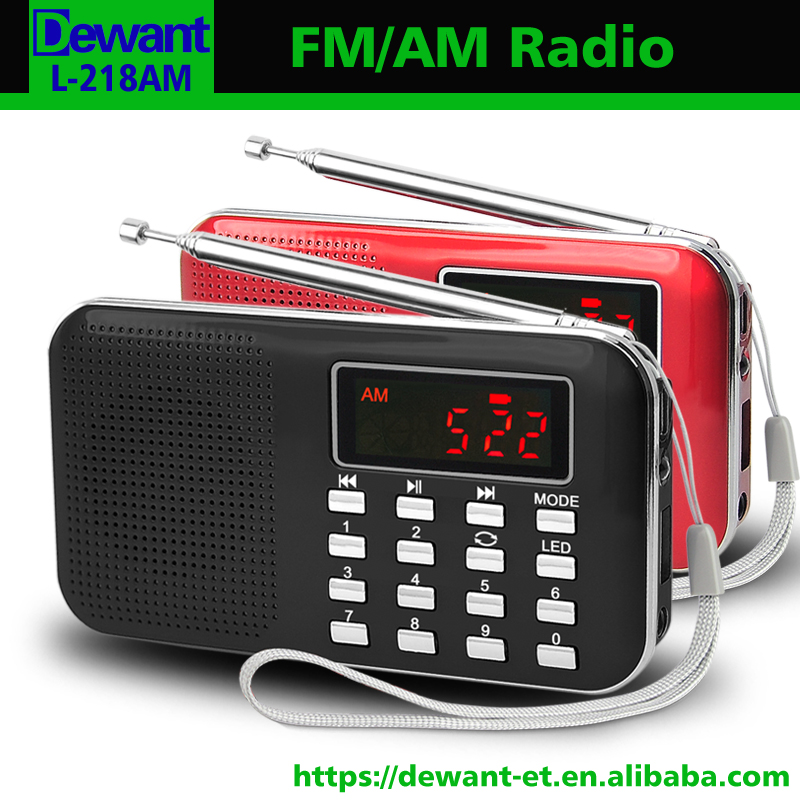 Fábrica de venda L-218AM best seller mini bolso digital am fm rádio com USB