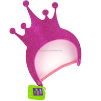 glitter eva hat foam visor sparkling crown kid crafts