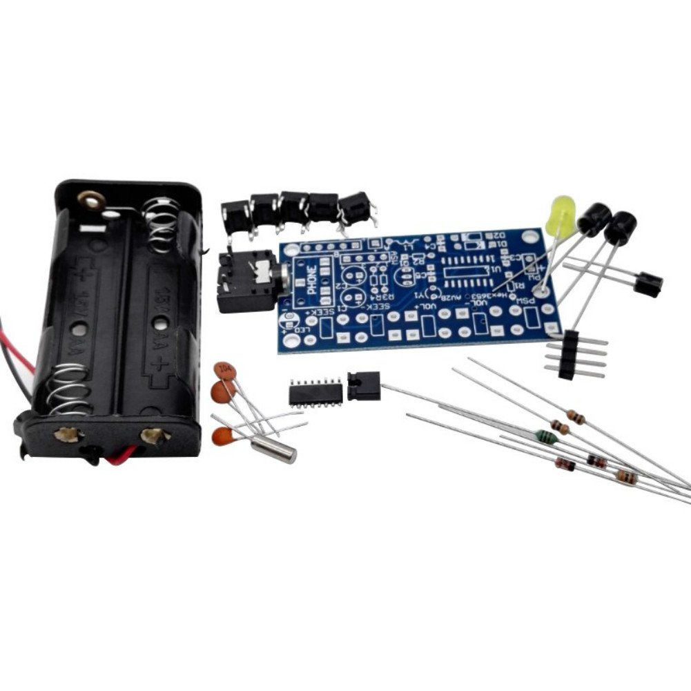 Cheap Diy Fm Radio Kit Find Deals On Line At 9v Transmitter Get Quotations Aoshike Kits Stereo Wireless Receiver Electronic Pcb 76 108