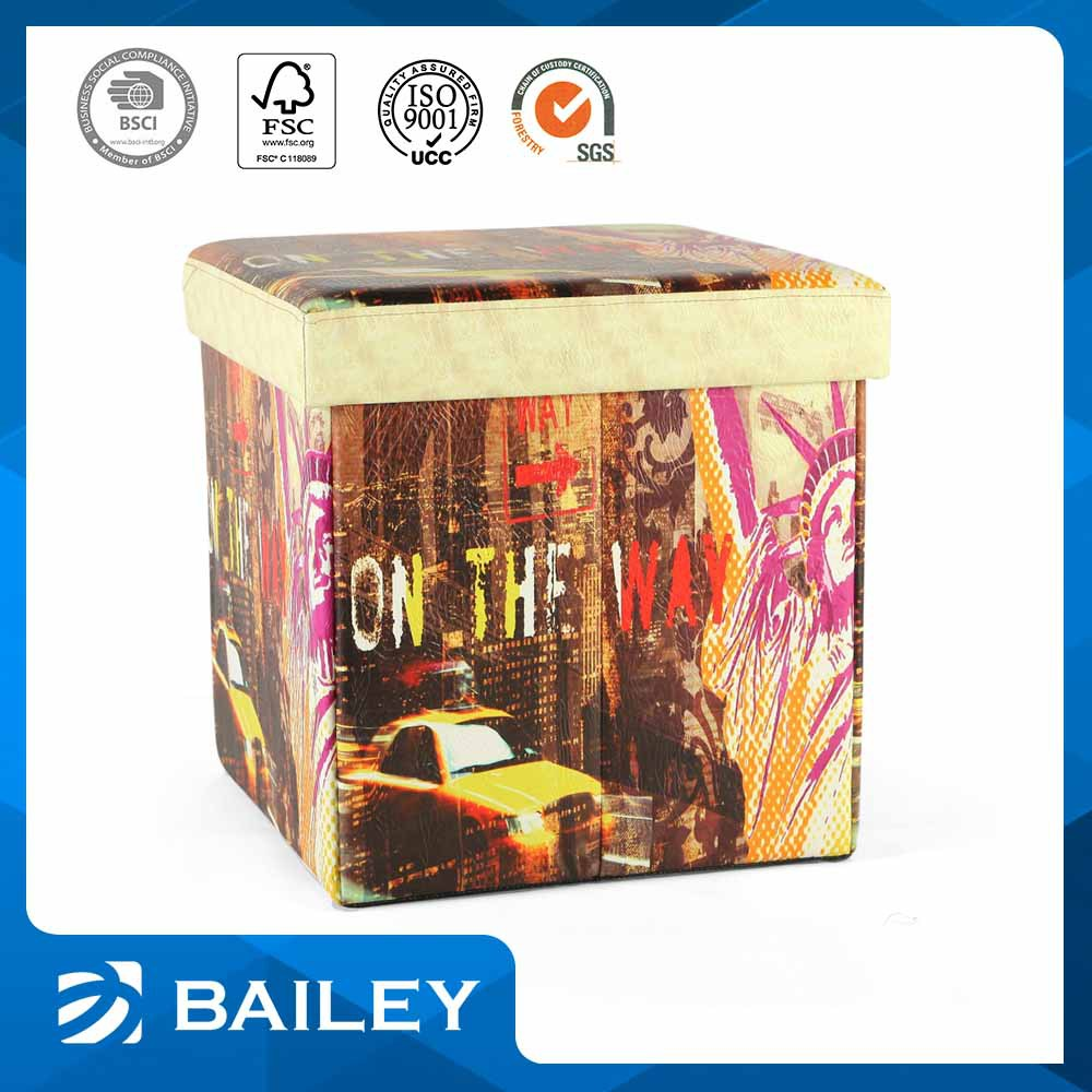Elegant Top Quality Folding Storage Ottoman Fine Art Furniture To Home Manufacturer