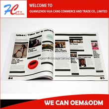High Quality Fashion weekly monthly season quater issued published A4 A5 A6 Magazine Printing service in china guangzhou