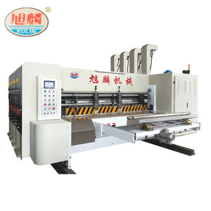 automatic printing corrugated rotary die cutting machine, corrugated cardboard 4 colors printerslotterrotary die cutter