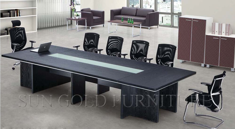 New designs rectangular table for meeting room training for Meeting table design 3d