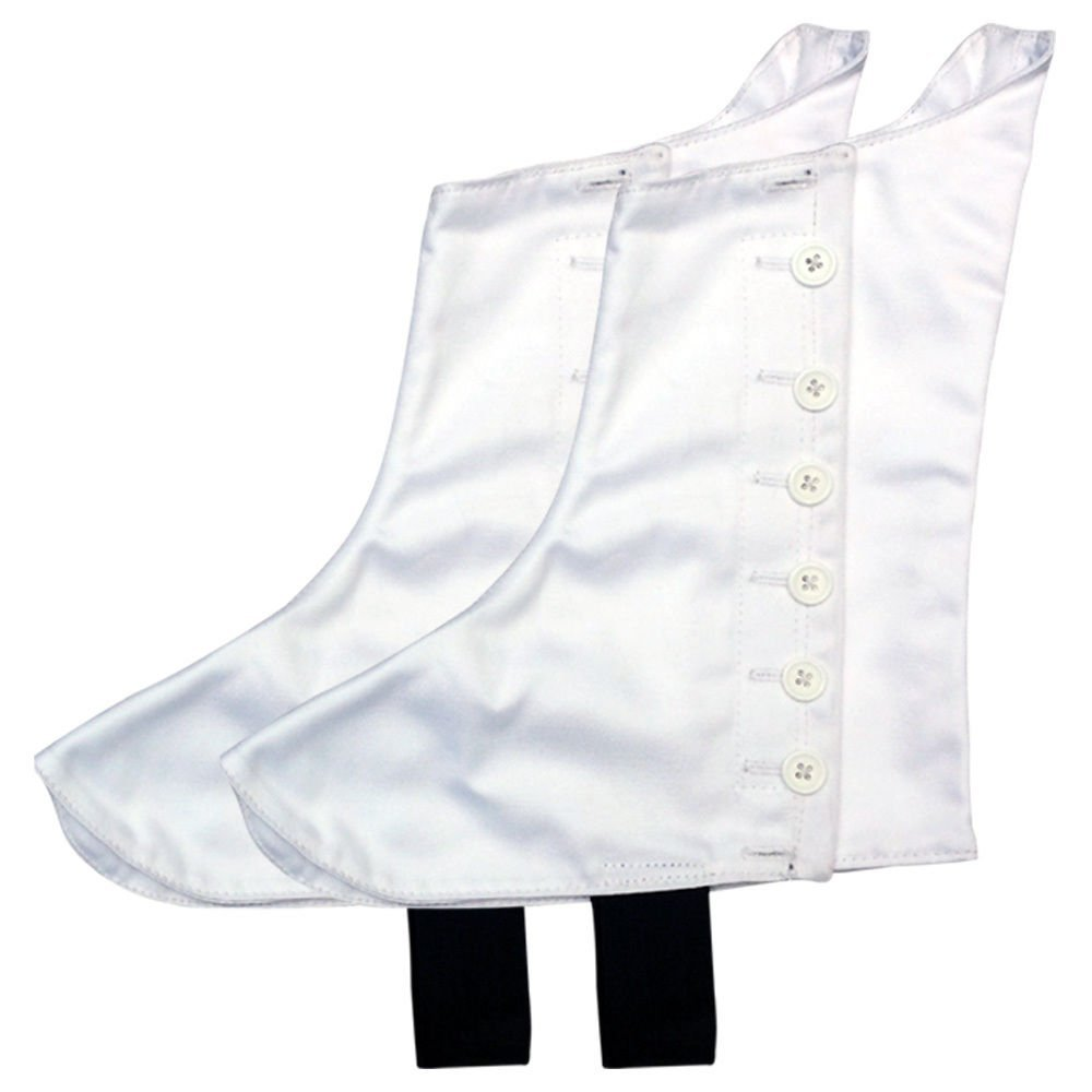 Highland Pipers Drummer Kilt Spats Scottish Kilt Spat with 8 White Buttons (12)