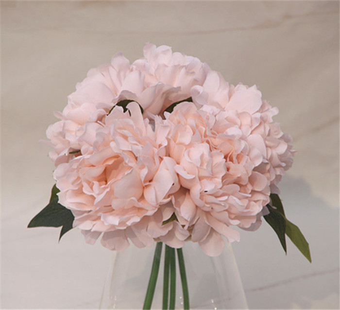 5 Kopfe Bundel Seide Kunstliche Blumen Hortensien Brautjungfer