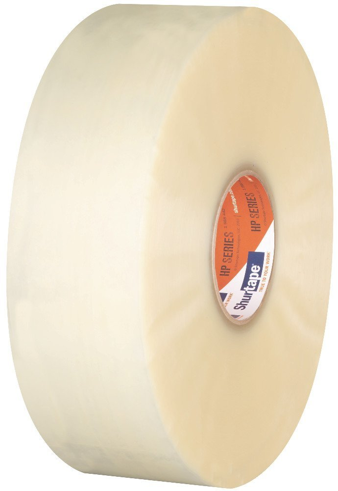 Shurtape HP 200 Production Grade Hot Melt Packaging Tape, 72mm x 914m, Clear, Case of 4 Rolls (208496)