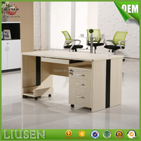 Factory wholesale price office staff table design wooden modern computer desk photos