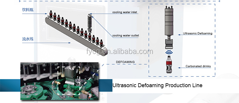 Ultra Sonic Filling Beverage Production Ultrasonic Defoaming