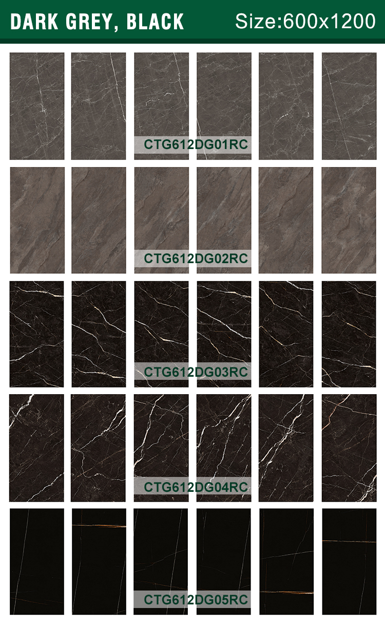 600 1200 mm  building materials glossy gray with white vein polished porcelain floor Tile