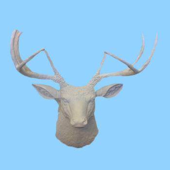 New White Faux Deer Head Stag Whitetail Resin Wall Decor