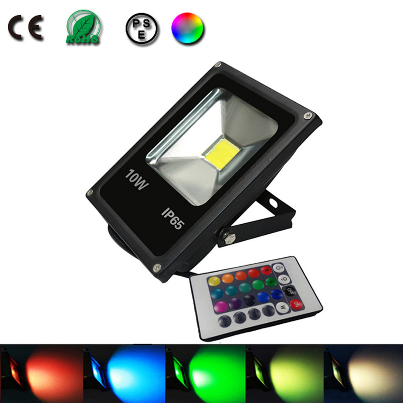 10w spot led projecteur led eclairage exterieur luminaire lumiere dimmable rgb color lampe. Black Bedroom Furniture Sets. Home Design Ideas