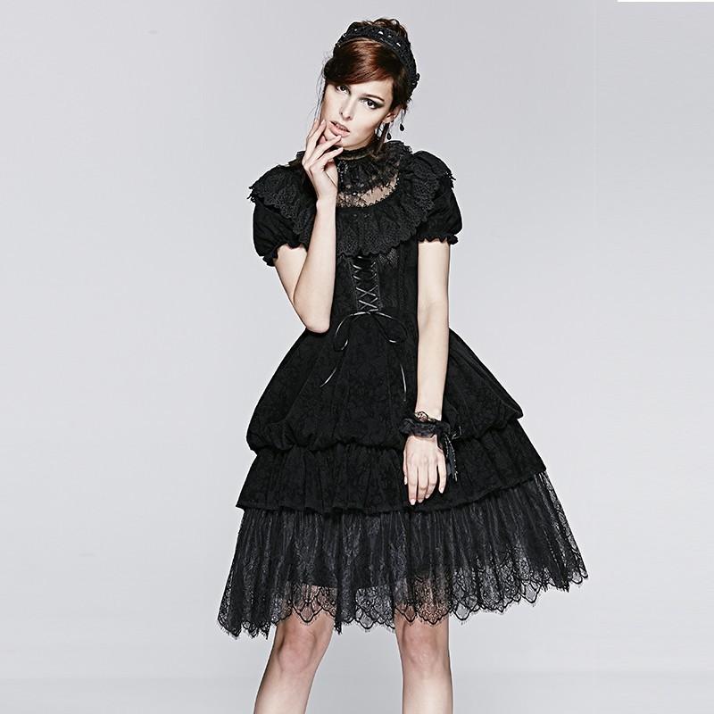 Lq 070 Short Sleeve Black Lace Sexy Gothic Lolita Punk Dresses Buy