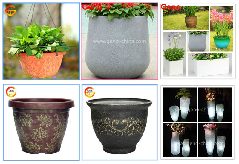 Antique Chinese Resin Plant Pot For Garden Decor