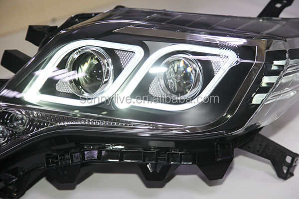 Prado Fj150 Land Cruiser Led Diamond Style Angel Eyes Led Head Lights 2014-2015 Year Ldv2 - Buy