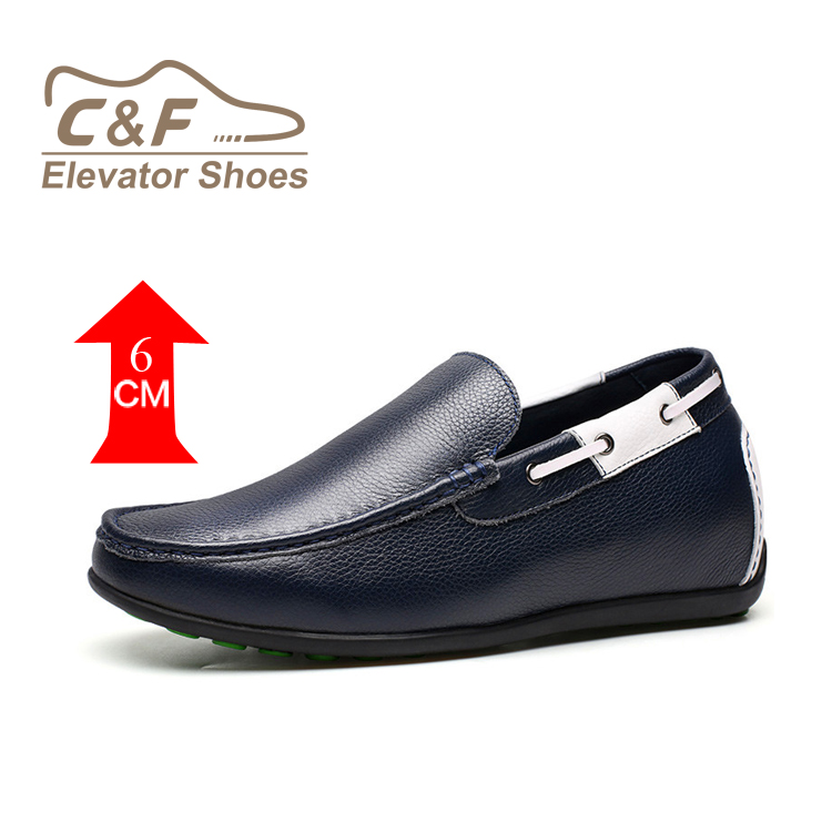 mens genuine C blue loafer amp;F leather shoes New style tqXIHXwpxr