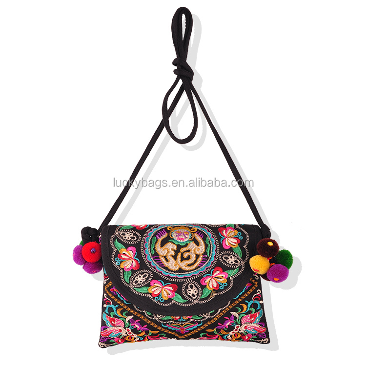 indian style single <strong>shoulder</strong> ladies fancy messenger canvas lady cross body bag