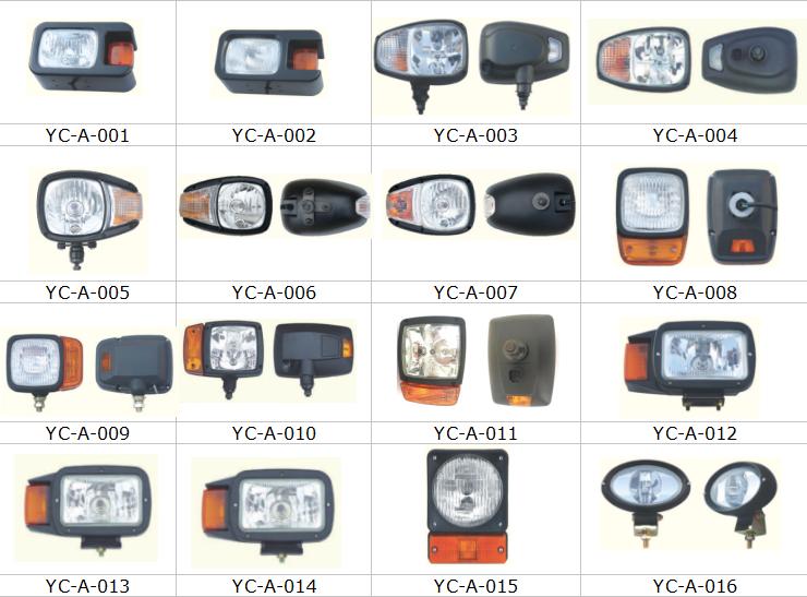 Zone rouge lumières de sécurité pour chariot élévateur et pelles