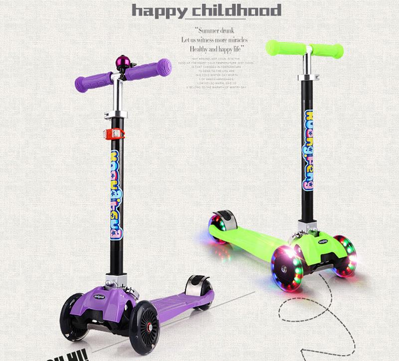 2015 hot selling children scooter adjustable flashing. Black Bedroom Furniture Sets. Home Design Ideas