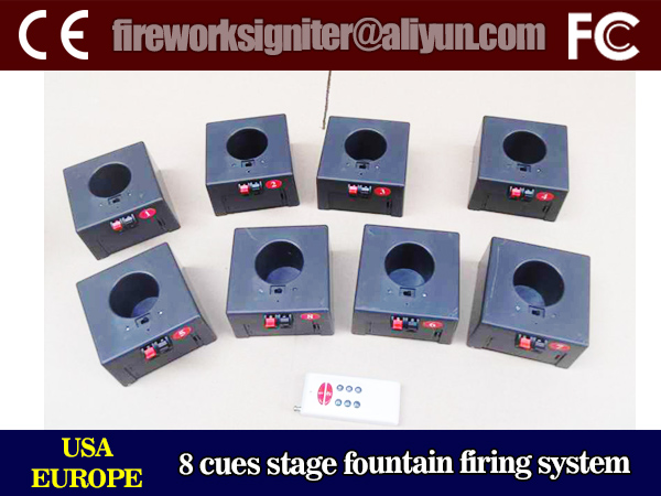 stage fountain firing system/indoor fireworks firing system/8 cues remote controlled fireworks firing system/wholesale fireworks