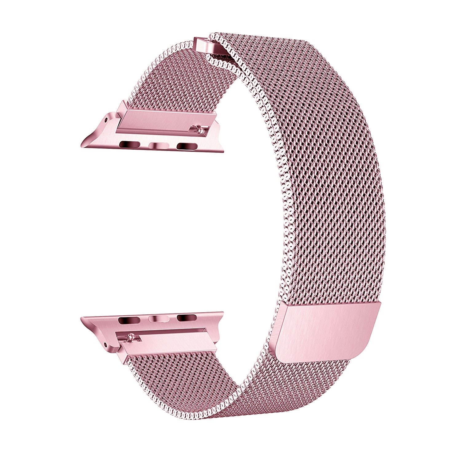 BRG for Apple Watch Band 38mm 42mm, Stainless Steel Mesh Milanese Loop with Adjustable Magnetic Closure Replacement iWatch Band for Apple Watch Series 3 2 1 (Rose Gold, 38mm)