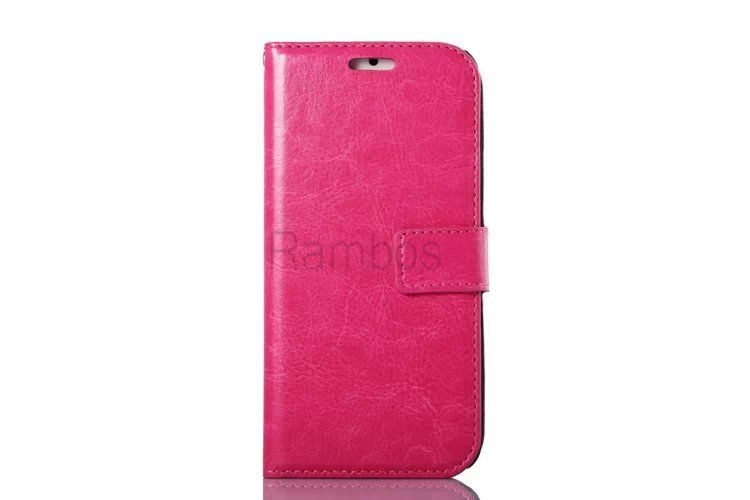 Customized Pu Leahter Flip Wallet Book Case Cover Pouch