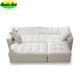 living room hot sale high quality leather sofa, king size white sofa bed