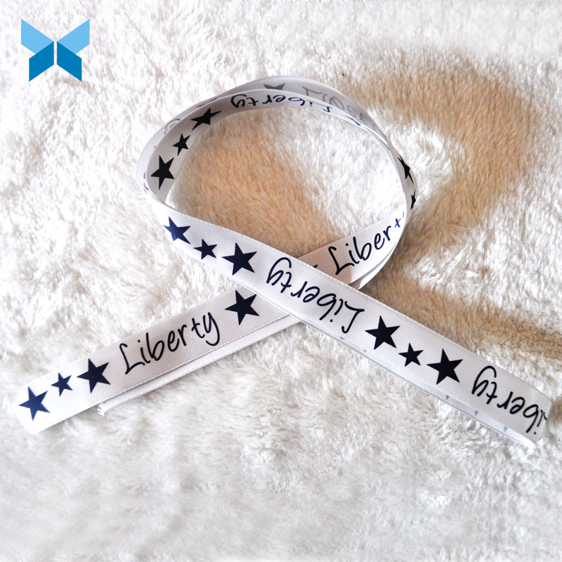 Washing Care Instruction/ Polyester Satin Composition Label Star LOGO Printing Label