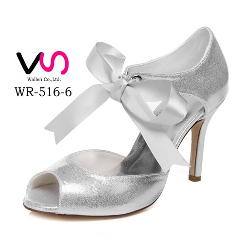Nice New Silver Material Handmade Bridal Shoes Wedding Dress Shoes For Evening Party Buy Ladies Pump Shoes Cheap Bridal Shoes Yellow Shoes Bridal