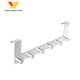 Stainless Steel Over The Door Hanging Hook Organizer Rack For Clothes Coat Towel