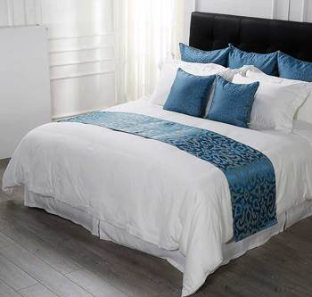 Oearn Style Plain White Bedding With Blue Bed Spread Buy 100