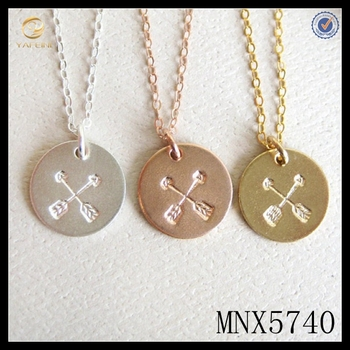 a1f5e242a1a11 925 Sterling Silver Friendship Crossed Arrows Necklace Girlfriend Gift And  Bridesmaids Jewelry - Buy Friendship Crossed Arrows Necklace,925 Sterling  ...