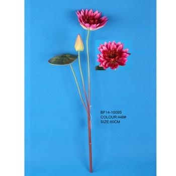 Hotsale Single Stem Artificial Lotus Flowersilk Fake Lotus Flowers