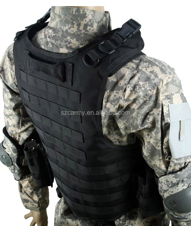 Full tactical body armor the image kid for Housse gilet pare balle gendarmerie
