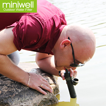 miniwell personal water filter straw