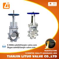 Factory supply Z41H-16C WCB Russia standard manual operate guillotine gate valve