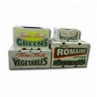 004VE001 Coated Corrugated Coated Corrugated Cardboard Wax Lettuce Cartons