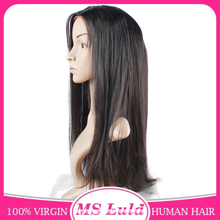 Bestselling And Quick Shipment Grade 5 Straight Full Lace Wig Made Of Unprocessed Brazilian Human Hair