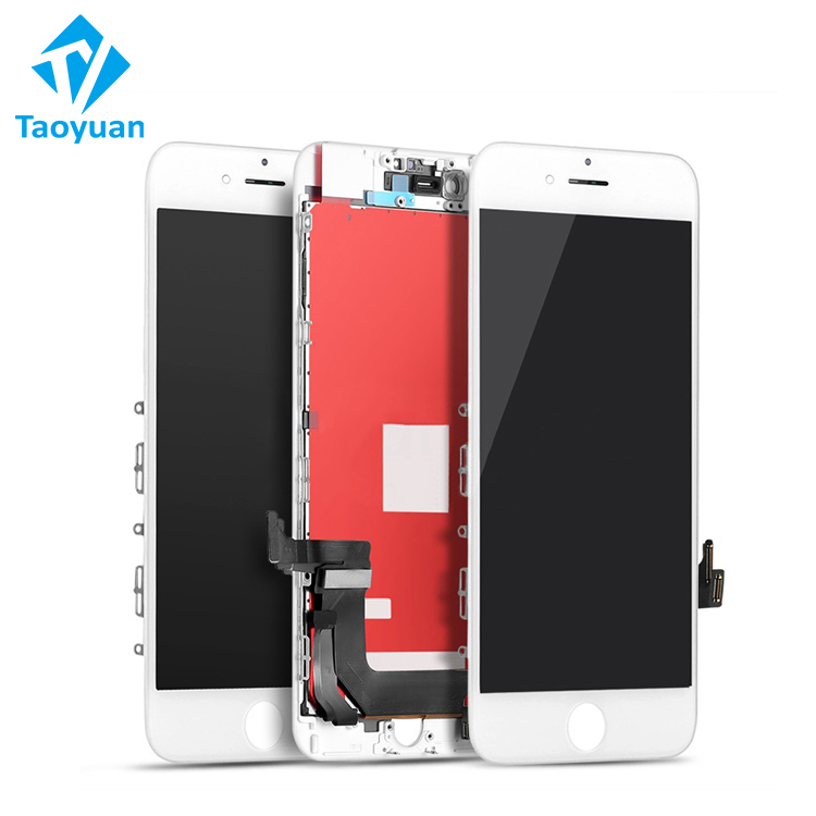 Foxconn LCD für iPhone 7 LCD schwarz display touchscreen digitizer montage