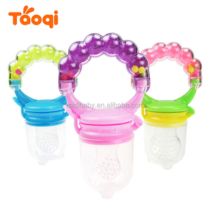 2018 Food Grade Baby Chew Silicone Food Supplier For Fruits And Vegetables Infant Teething Feeder