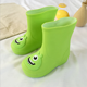 2018 fashion and confort high quality pvc white kids rubber rain boots especially babies
